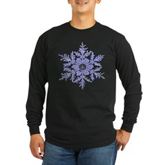 Snowflake Long Sleeve Dark T-Shirt