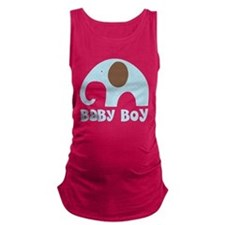 Cute Baby Boy Elephant Maternity Tank Top