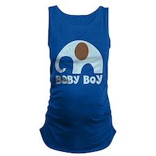 Cute Baby Boy Elephant Maternity Tank Top