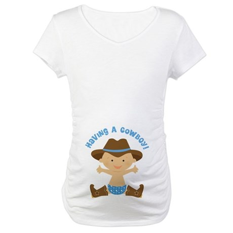 Baby Boy Cowboy Maternity T-Shirt