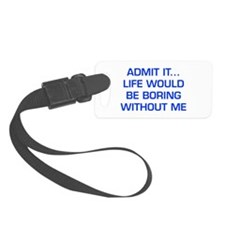 admit-it-EURO-BLUE Luggage Tag