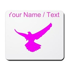 Custom Pink Eagle Wings Spread Silhouette Mousepad