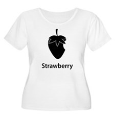 Strawberry (black) Plus Size T-Shirt