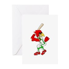 Cardinal Baseball Player Greeting Cards