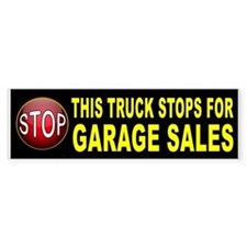 GARAGE SALE BUMPER Bumper Bumper Sticker