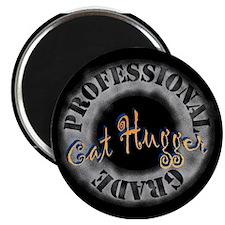 Cat Hugger (yellow/blue) Magnet