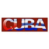 """Cuba Bubble Letters"" Bumper Bumper Stickers"
