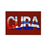 """Cuba Bubble Letters"" Rectangle Magnet"
