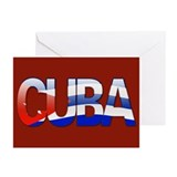 """Cuba Bubble Letters"" Greeting Cards (Pk of 10)"