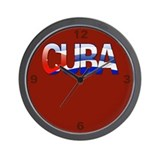 """Cuba Bubble Letters"" Wall Clock"