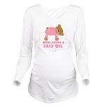 Baby Girl Teddy Bear Pregnancy Long Sleeve Materni