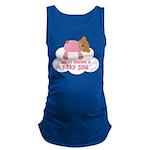 Baby Girl Teddy Bear Pregnancy Maternity Tank Top