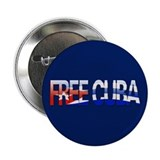 """Free Cuba Bubble Letters"" Button"
