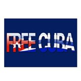 """Free Cuba Bubble Letters"" Postcards (Package of 8"