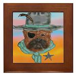 Sherriff bulldog Framed Tile
