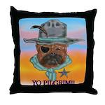 Sherriff bulldog Throw Pillow