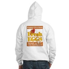 Happy Chicken Fresh Eggs Hoodie