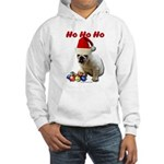Ho Ho Ho Christmas Bulldog Hooded Sweatshirt