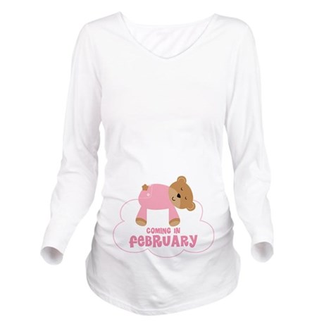 Baby Girl Bear Coming In February Long Sleeve Mate