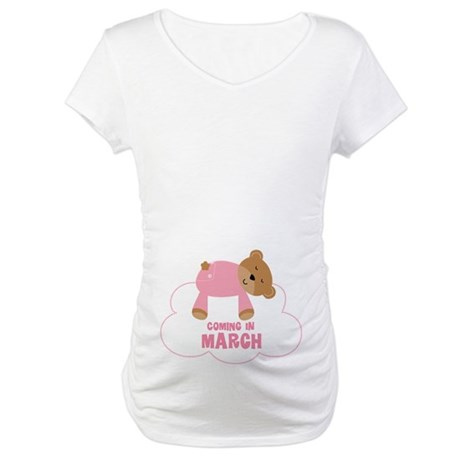 Baby Girl Coming In March Maternity T-Shirt