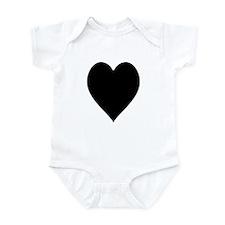 Plain Heart Infant Bodysuit