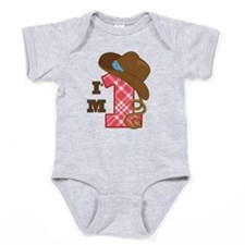 1 Year Old Cowboy Baby Bodysuit