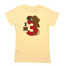 3 Year Old Cowboy Girl's Tee