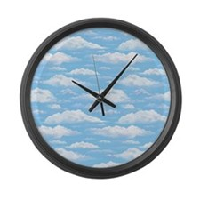 Dreamy Sky Large Wall Clock