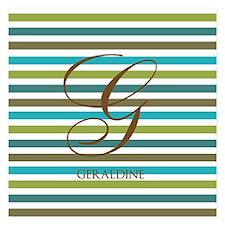 Custom Monogram Elegant Stripe Invitations