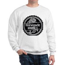 White on Black Approved Sweatshirt