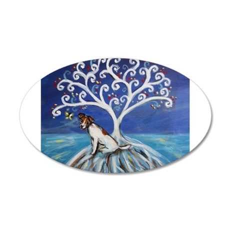 Jack Russell Terrier Tree Wall Decal