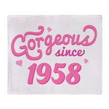 Gorgeous Since 1958 Throw Blanket