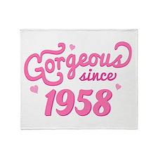 Gorgeous Since 1958 Throw Blanket