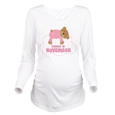 Baby Girl Coming In November Long Sleeve Maternity