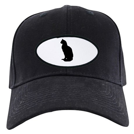 Cat Silhouette Black Cap