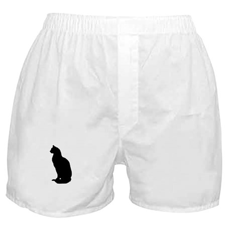 Cat Silhouette Boxer Shorts