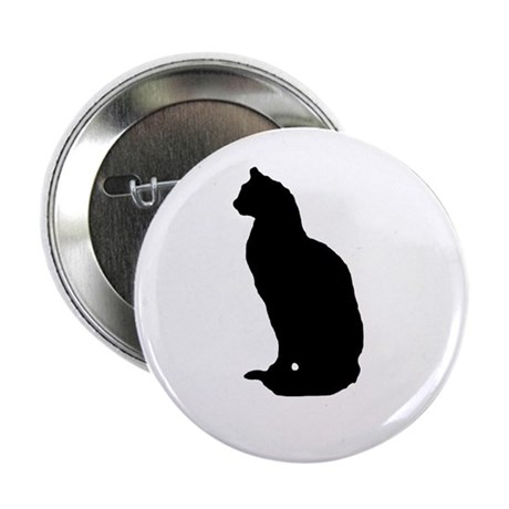 Cat Silhouette Button
