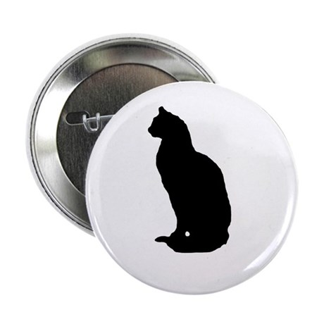 "Cat Silhouette 2.25"" Button (10 pack)"