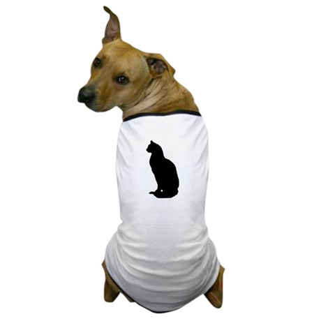 Cat Silhouette Dog T-Shirt