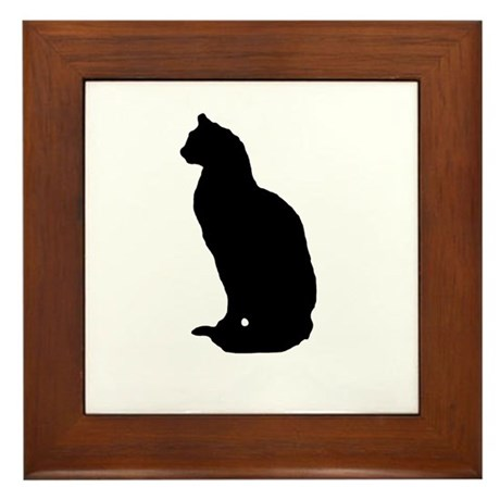 Cat Silhouette Framed Tile