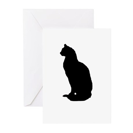 Cat Silhouette Greeting Cards (Pk of 10)
