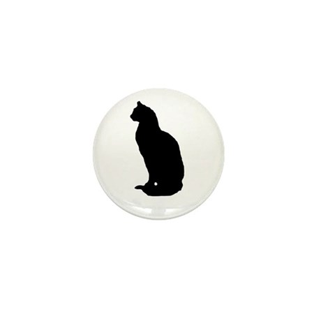 Cat Silhouette Mini Button