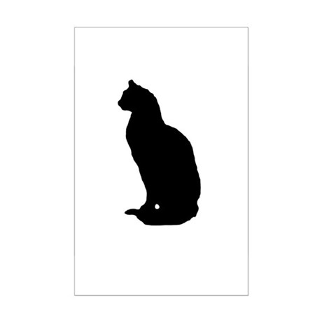 Cat Silhouette Mini Poster Print