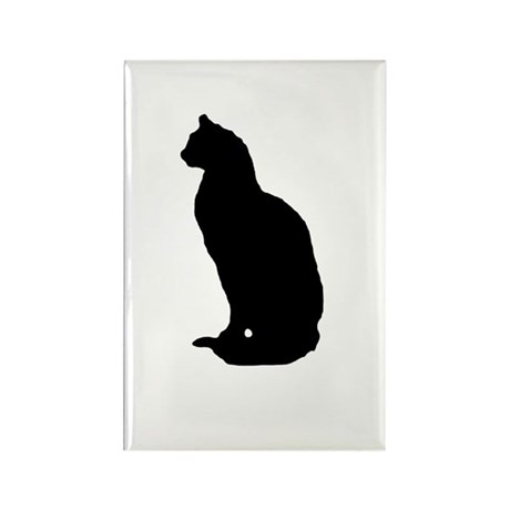 Cat Silhouette Rectangle Magnet