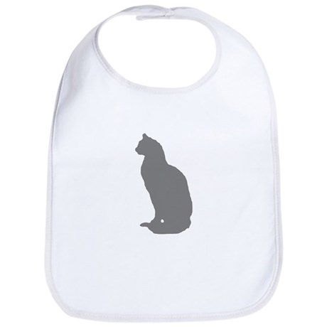Grey Cat Bib