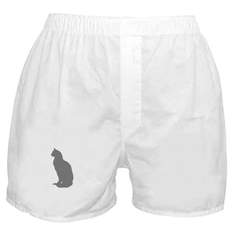 Grey Cat Boxer Shorts