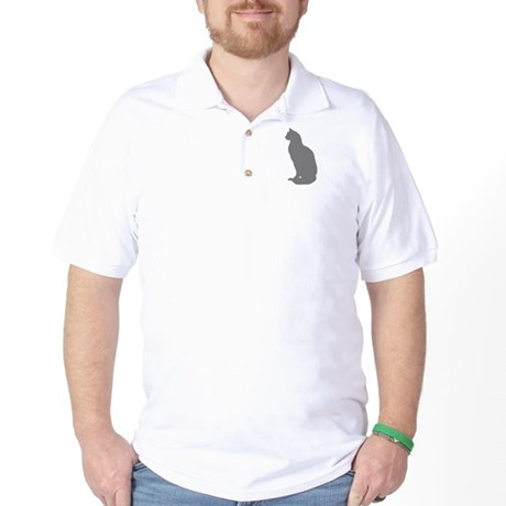 Grey Cat Golf Shirt