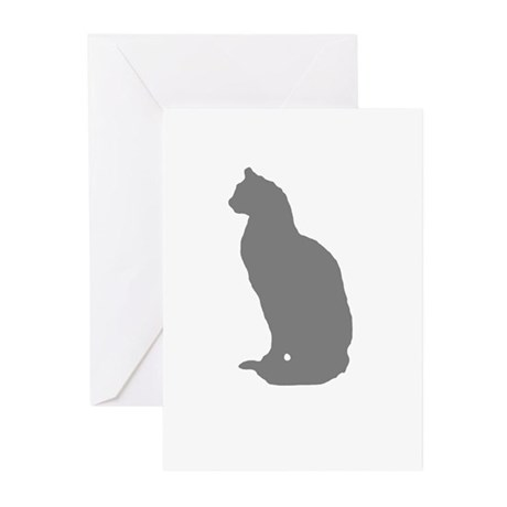 Grey Cat Greeting Cards (Pk of 10)