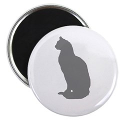 "Grey Cat 2.25"" Magnet (10 pack)"