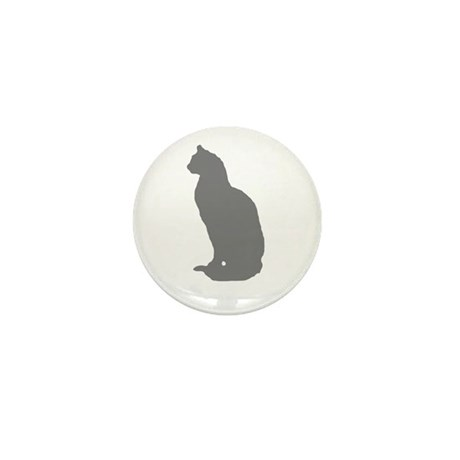 Grey Cat Mini Button (10 pack)